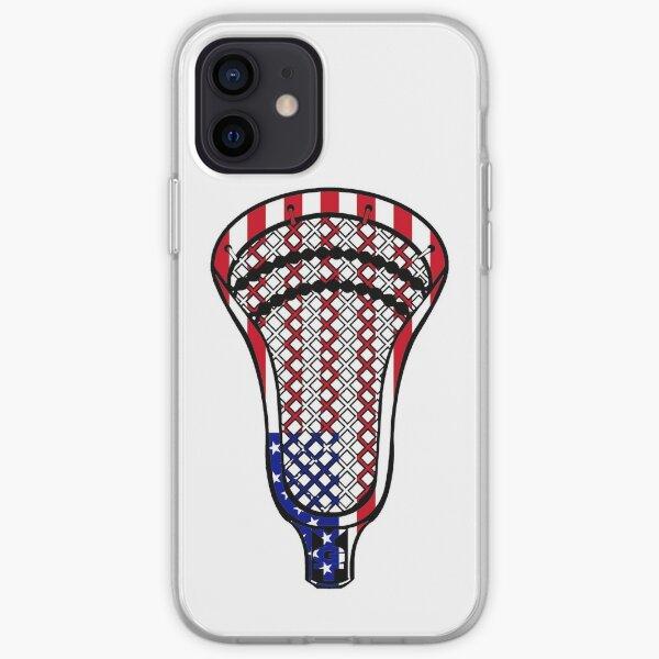 Lacrosse Head Flag iPhone Soft Case