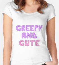 CREEPY AND CUTE Women's Fitted Scoop T-Shirt