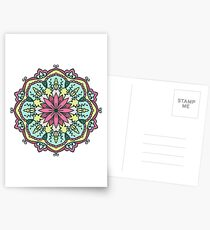 Mandala - Circle Ethnic Ornament Postcards