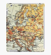 Old commercial map of Europe 1865 - 1907 iPad Case/Skin