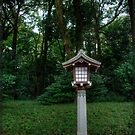 Shrine in Yoyogi Park near the Meiji Shrine, Tokyo, Japan by William R. Bullock