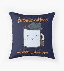 Fantastic coffes & where to drink them! Throw Pillow