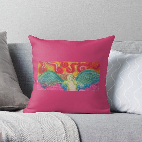 Freedom Angel Throw Pillow