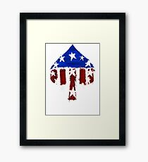 Courier's Ace of Spades Framed Print