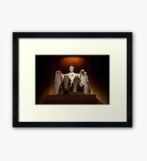 Lincoln Memorial At Night - Washington D.c. Framed Print