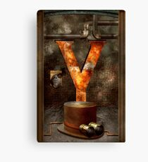 Steampunk - Alphabet - Y is for Yellow Goggles Canvas Print