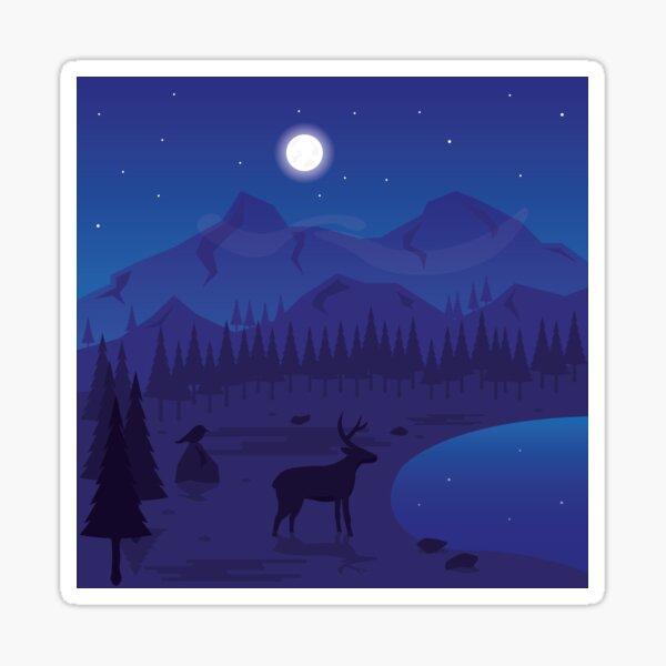 Night Landscape Sticker