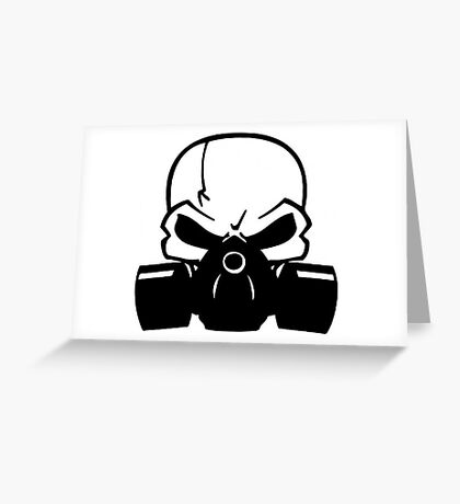 Skull Gasmask Greeting Card