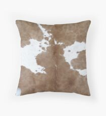 Cowhide. Throw Pillow