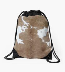 Cowhide. Drawstring Bag