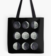 Moon Phases - Watercolor & Ink Tote Bag