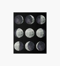 Moon Phases - Watercolor & Ink Art Board
