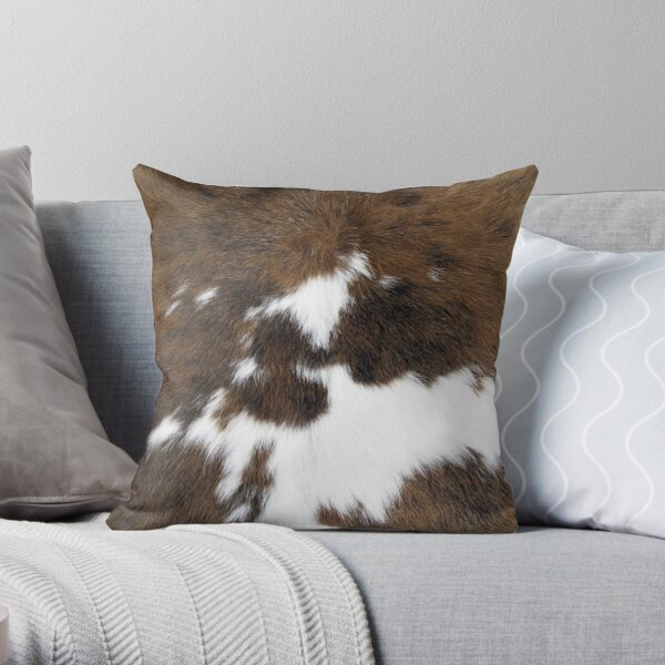 Cowhide Throw Pillow