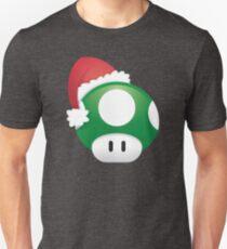 Super Mario 1Up Christmas Mushroom Unisex T-Shirt