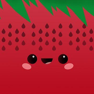 Sammy the Kawaii Strawberry by raddude
