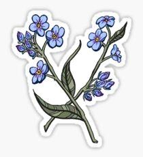Forget-Me-Nots Sticker