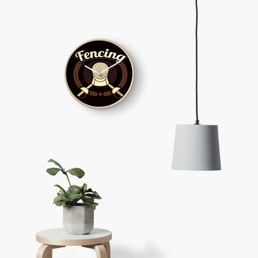 Fencing Enthusiast  Clock