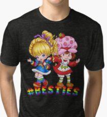 Camiseta de tejido mixto Besties