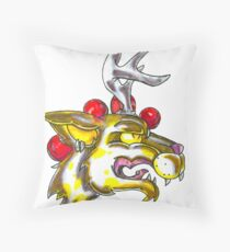 Party Hardy Creature Throw Pillow