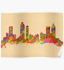 Skyline of Atlanta Georgia USA Poster