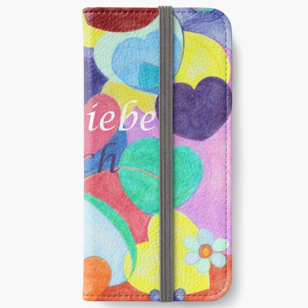 Ich Liebe Dich I love you iPhone Wallet