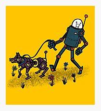 Robot Walk Photographic Print