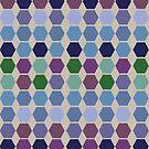 Berry cool colours hexagon quilt by goanna