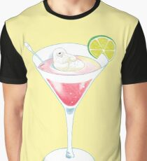 Otter in Cocktail Graphic T-Shirt
