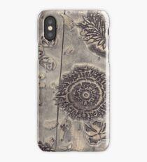 Antique Textile Wood Printing Block iPhone Case