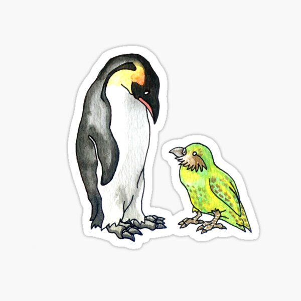 flightless friends Sticker