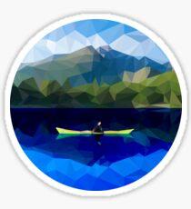 Mountain Kayaking Sticker