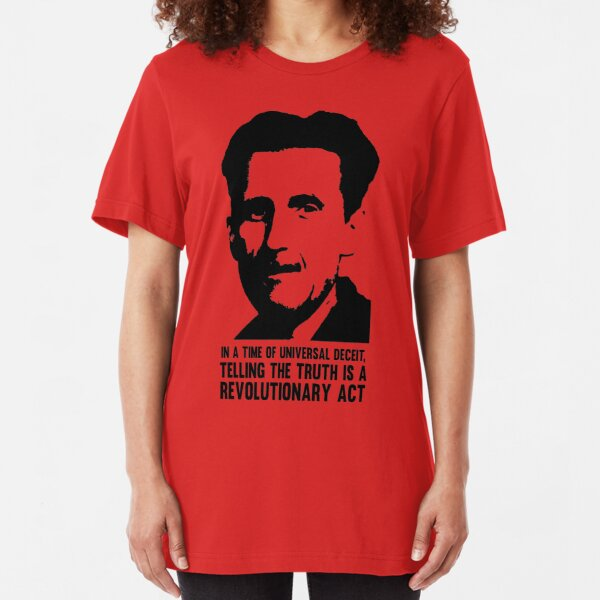 Truth is Revolutionary - George Orwell Slim Fit T-Shirt