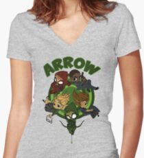 Arrow S3 Promo Poster Variant - Version 3 Women's Fitted V-Neck T-Shirt