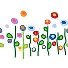 Floral art garden flowers by goanna