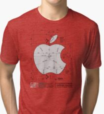 Apple Construction Dimensions Tri-blend T-Shirt