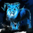 Blue Horned Lion by Andre Martin