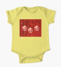 Christmas Red Balls One Piece - Short Sleeve