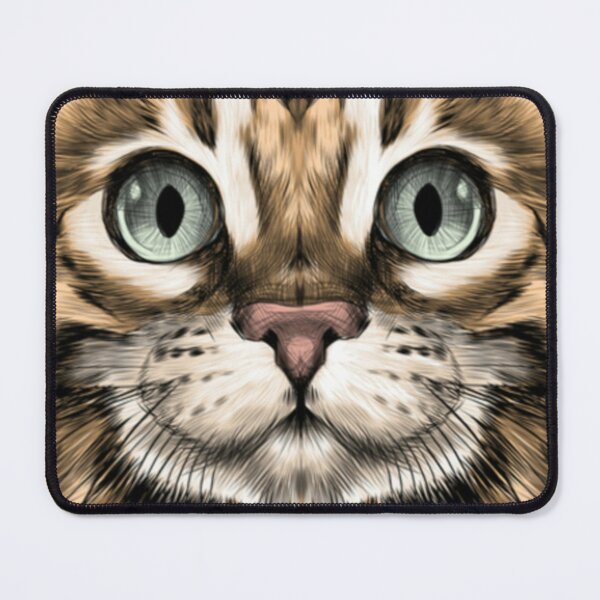 draw a realistic cat Mouse Pad