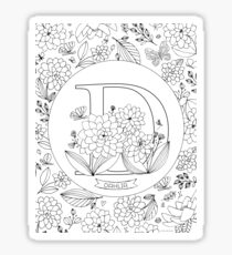 D is for Dahlia Sticker