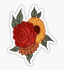 Rose and Sunflower Sticker