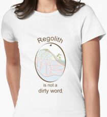 Regolith is not a dirty word Women's Fitted T-Shirt