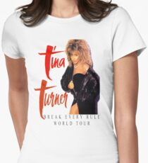 Tina Turner - World Tour - Reproduction Concert Tee 1987 Women's Fitted T-Shirt