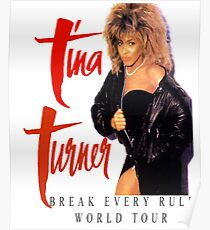 Tina Turner - World Tour - Reproduction Concert Tee 1987 Poster