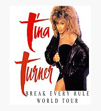 Tina Turner - World Tour - Reproduction Concert Tee 1987 Photographic Print