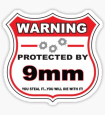 9mm Protected by 9mm Shield Sticker