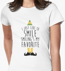 Smiling's my Favorite - Elf Women's Fitted T-Shirt
