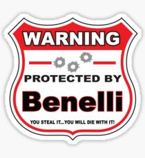 Benelli Protected by Benelli Shield Sticker