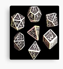 dungeons and dragons dice game shirt Canvas Print