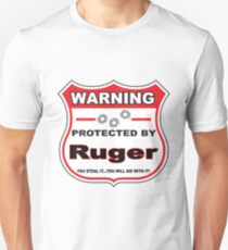 Ruger Protected by Ruger Shield Unisex T-Shirt