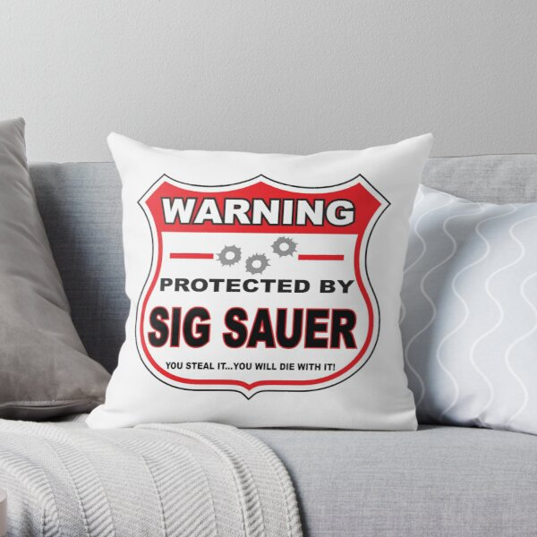 Sig Sauer Protected by Sig Sauer Throw Pillow